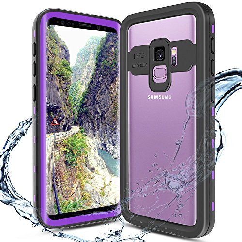 XBK Case for Samsung Galaxy S9, Ultra Protective Case with Built-in Screen Protector Desgin for Galaxy S9 (5.8 Inch,Purple)