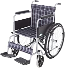 Zhi BEI Wheelchair, Steel Pipe Spraying Elderly Disabled Hand Push Wheelchair, Lightweight Folding Portable Travel  