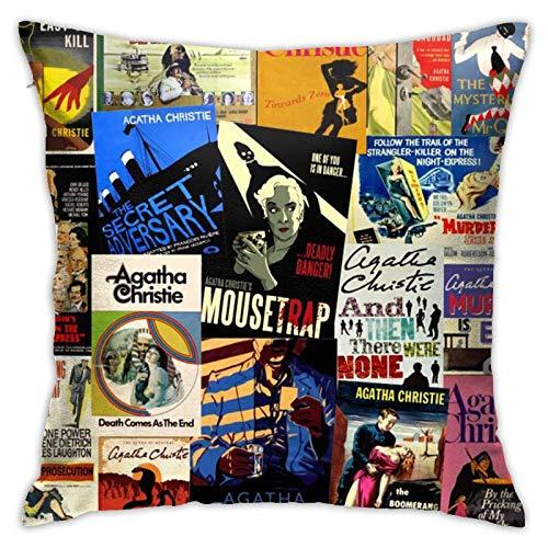 N\A Kissenbezüge, Agatha Christie, Couch Sofa Dekorative Kissenbezüge Kissen Home Decores Kissenbezüge