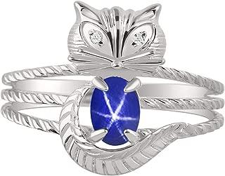 star sapphire pinky ring