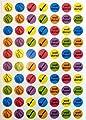 Minilabel 280 Autocollants de récompense pour Enfants pour la Motivation des Enfants, Le mérite/la louange des Enseignants.