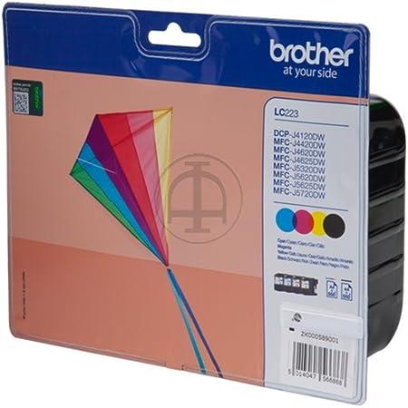 Original Brother Lc223 4x Premium Drucker Patrone Schwarz Cyan Magenta Gelb 550 Seiten Bürobedarf Schreibwaren