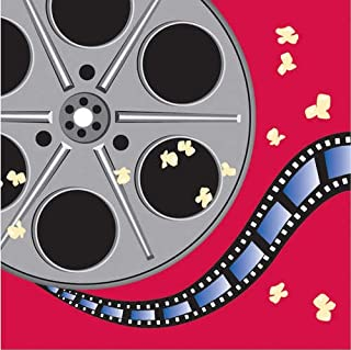 16-Count Paper Lunch Napkins, Reel Hollywood Movie Reel
