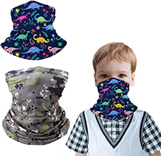 2 Pcs Kids Cooling Neck Gaiter 12+ Ways To Wears, Face Mask, UPF 50, Cools when Wet,Non-Slip Breathable Skin-Friendly Face...
