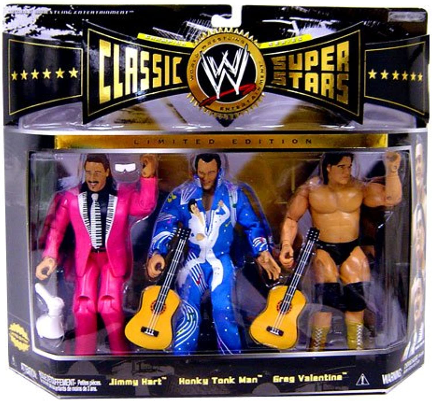 WWE Wrestling Classic Superstars Limited Edition Champion Series 3-Pack Rythm and bluees Jimmy Hart, Honky Tonk Man and Greg Valentine