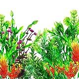 OrgMemory Plastikpflanzen für Aquarien, Fisch Tank Dekoration, (29 Stück, 12-30cm), Aquarium...