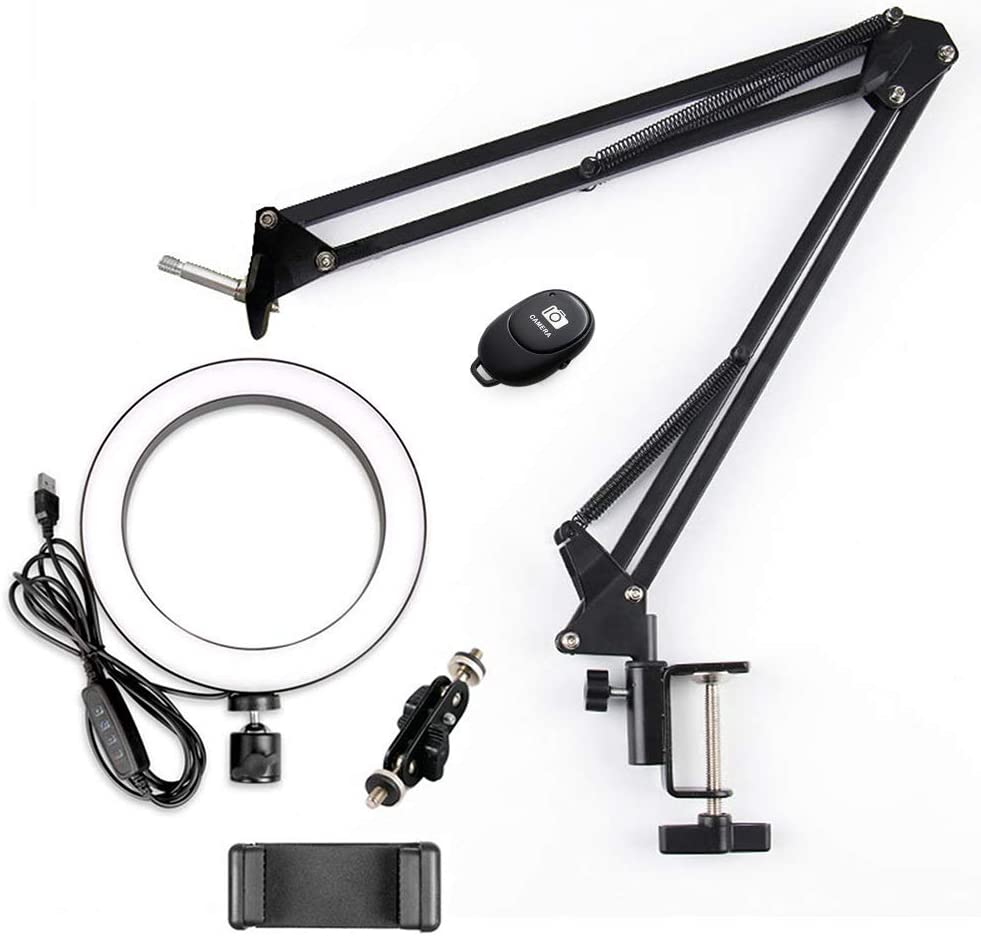 Regular store 26cm Max 74% OFF USB LED Selfie Ring Light Long Control with Arm Remote
