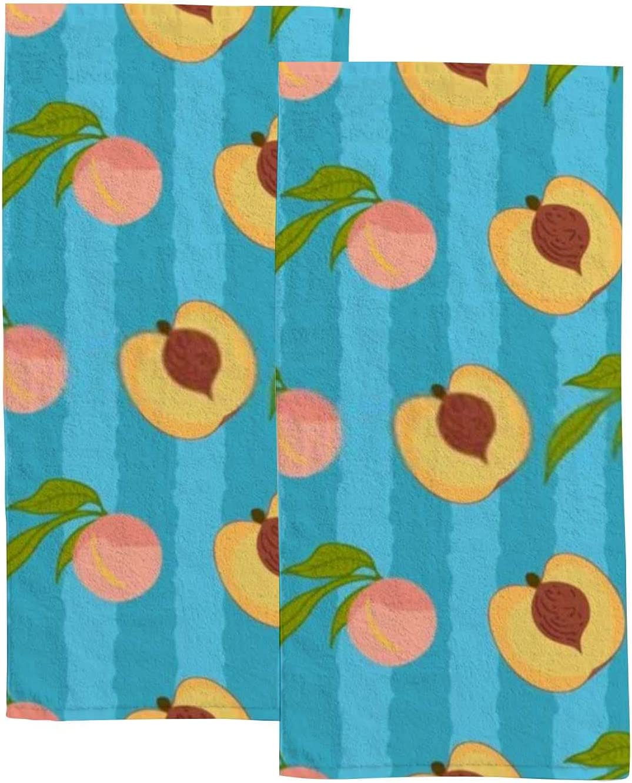2 Pcs Towel Max 53% OFF Set Highly Soft Cute Absorbent Seasonal Wrap Introduction Watercolor Bath
