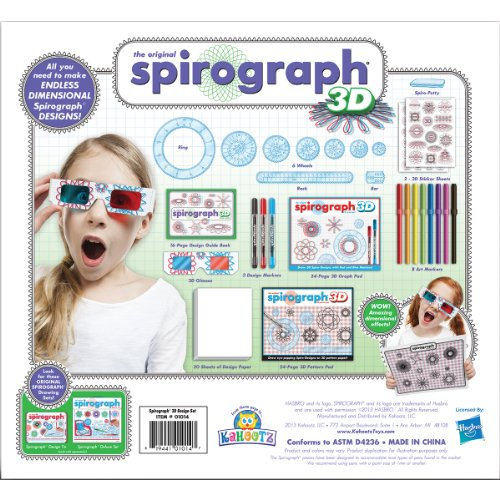 Kahootz 159595 KHZ01014 Spirograph 3D Set, Multicoloured, 5.08 x 27.94 x 31.11 cm