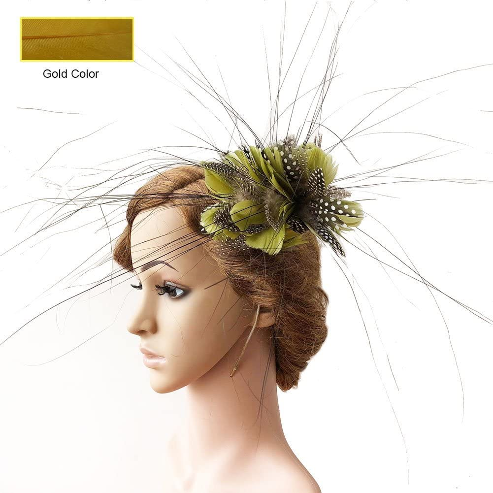 Feather Mount Millinery Feather Flower Headwear for Party