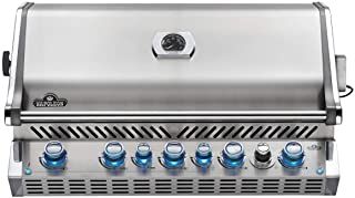 Napoleon BIPRO665RBNSS-3 Burner, Stainless Steel Built-in Prestige PRO 665 Natural Gas Grill Head with Infrared Rear B