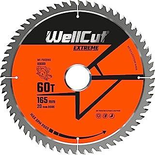 WELLCUT WC-P1652060 TCT sågblad 165 mm x 60T x 20 mm borr