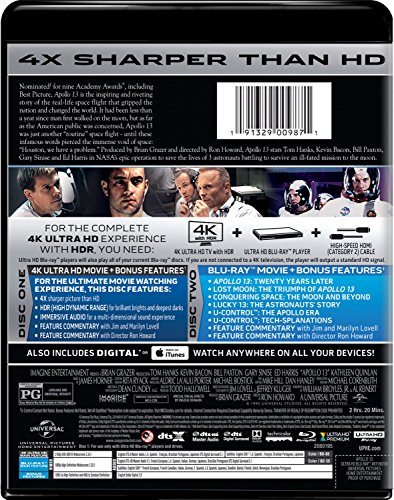 Apollo 13 4K Ultra HD + Blu-ray + Digital