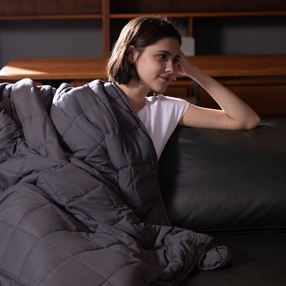 Syrinx Adults Weighted Blanket 20lbs Grey Finally resale start 60''x80'' Dark Q Ranking TOP1 for