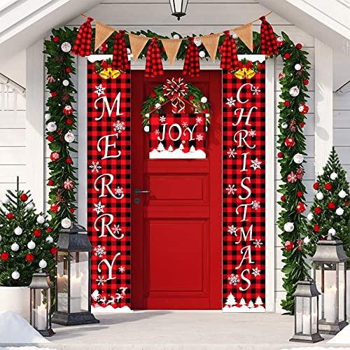 Overvloedi Banner de Navidad Decoraciones de Navidad para el hogar Feliz Navidad...