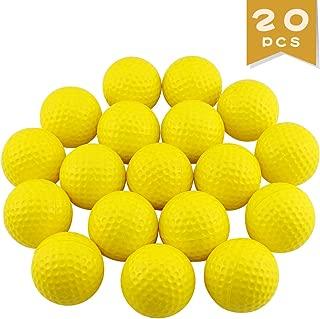 Agreatca 20Pcs Practice Golf Balls,Foam Sponge Golf Balls,Soft Elastic Golf Balls,Training Aid Balls