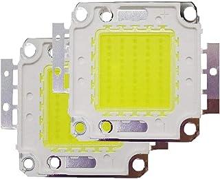 2PCS Chip LED COB 50W Bianco 6000K Lampadina a LED per luce di inondazione LED, Plafoniera, Lampada a risparmio energetico ad alta potenza Tesfish