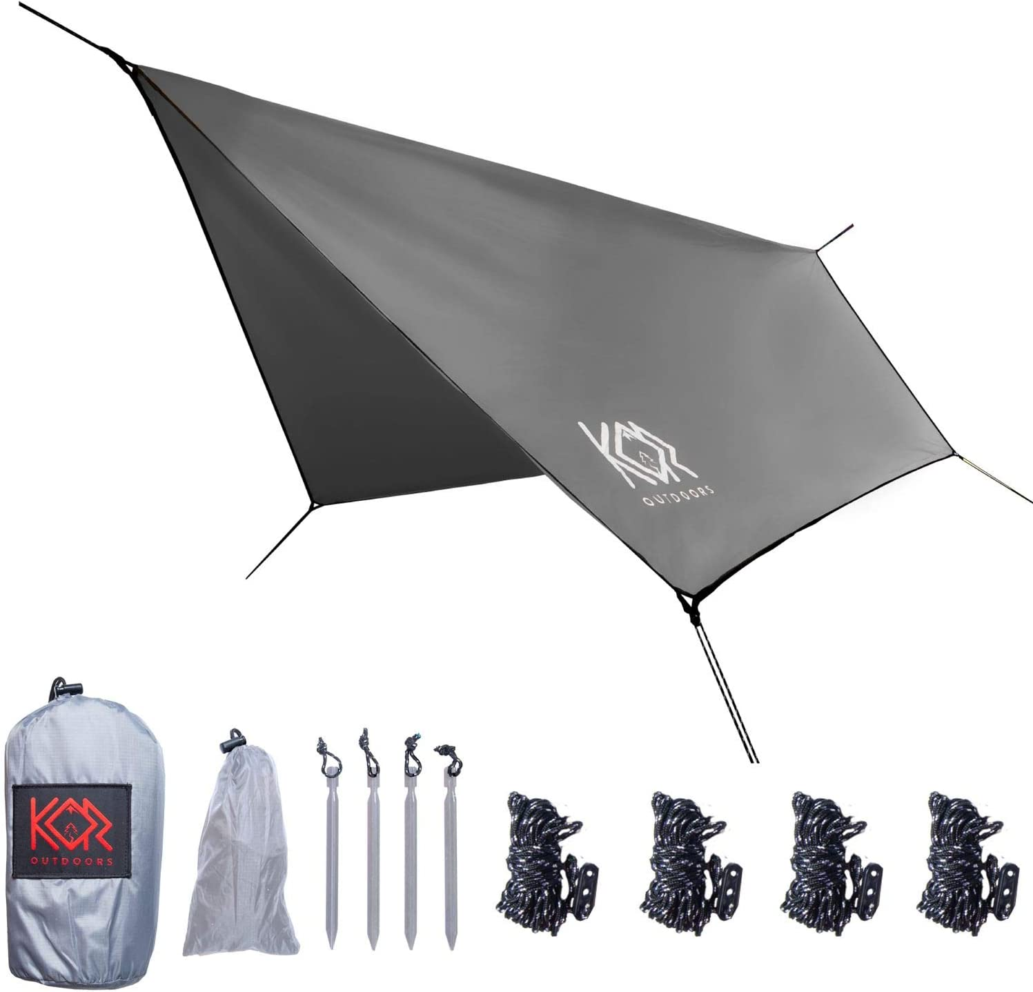 KOR Outdoors Parachute Don't miss the campaign Hammock Rain New Orleans Mall Tarp Fly and for Waterproof