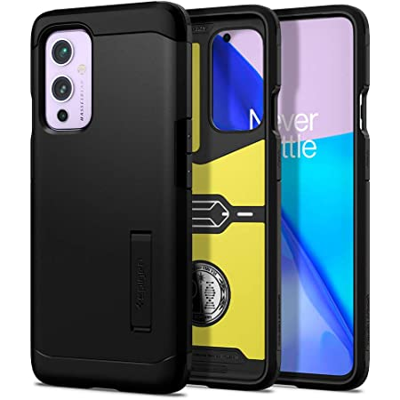 Spigen Tough Armor Designed for OnePlus 9 Case 5G [Compatible with NA & EU Versions, NOT Compatible with CH & in Versions] (2021) - Black