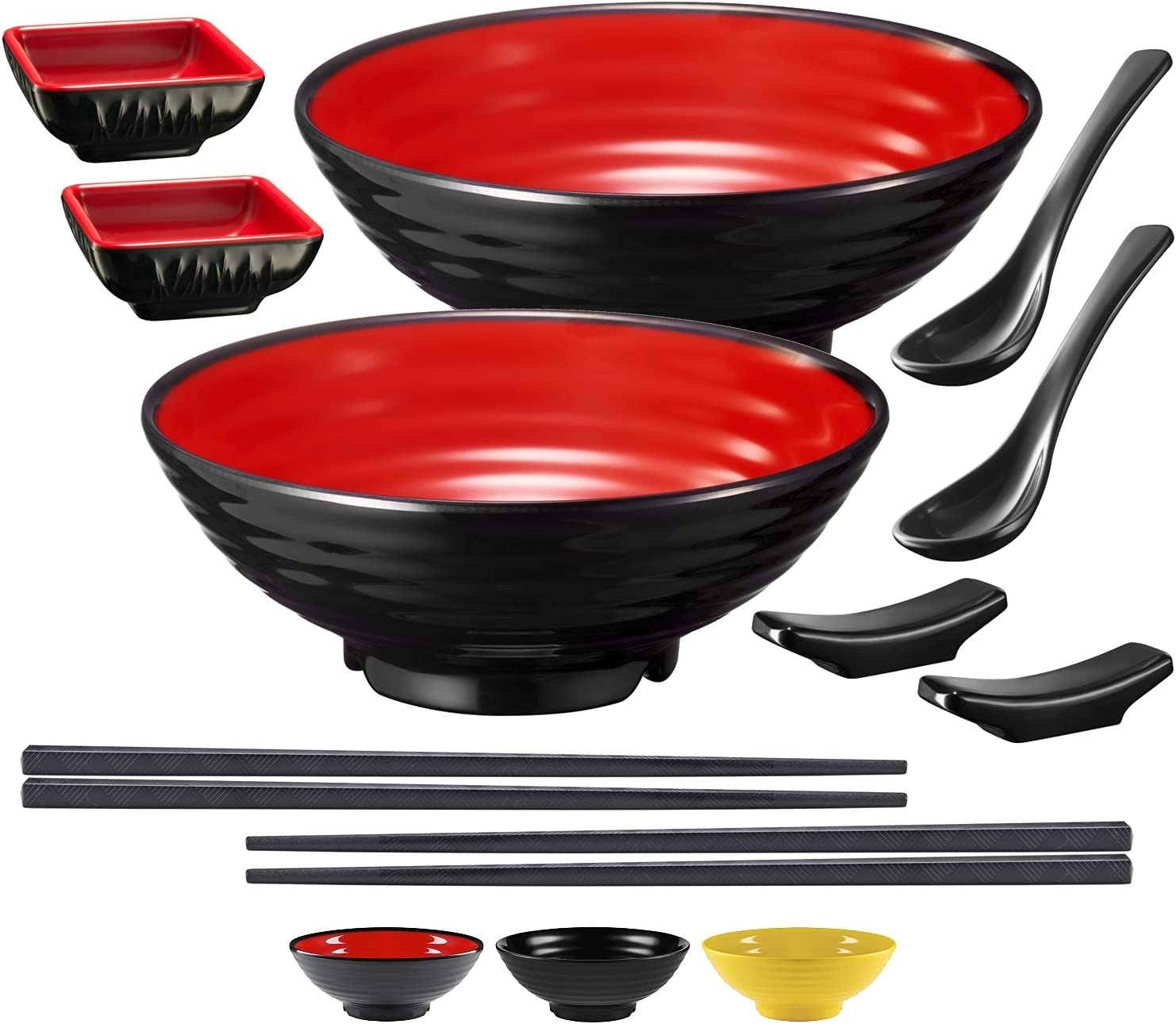 Unbreakable Ramen Bowl Excellent New sales Set with Chopsticks large and Ja Spoon: 2