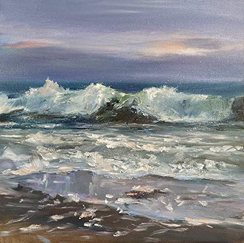 Meerbild Maritim Bild Landschaft Kunst Original Ölmalerei Gemälde 30x30 cm