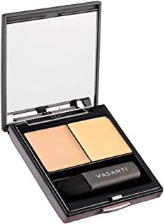 Wonders of the World Concealer Duo by VASANTI - Hide Dark Circles, Scars - Colour Correcting Full Coverage Concealer Duo -...