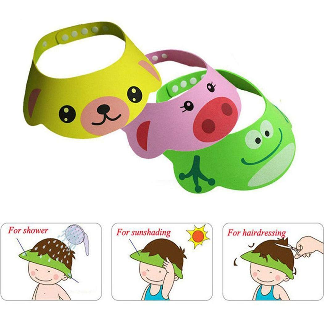 Idomeo Adjustable Lovely Baby Toddler Shampoo Shower Hat Bathing Cap Bathroom Safety