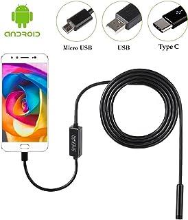 Shekar 7mm Android endoscopio boroscopio Inspección Cámara impermeable for samartphone con función OTG y UVC de 3.5m (7mm-3.5m)
