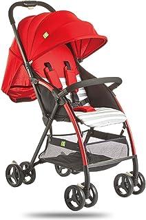 MuMa Cochecito Bebé Carro Puede Sentarse Acostado Ligero Bebé Cochecito De Bebé Cuatro Estaciones Niño Carretilla (Color : Rojo)