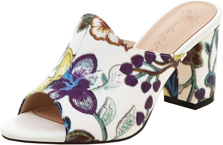 Slenderer Women Fashion Slip on Mules Sandals