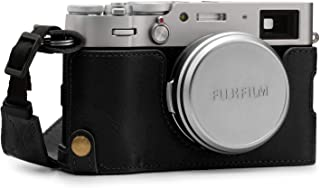 MegaGear Ever redo äkta läder kamera halvfodral kompatibel med Fujifilm X100V