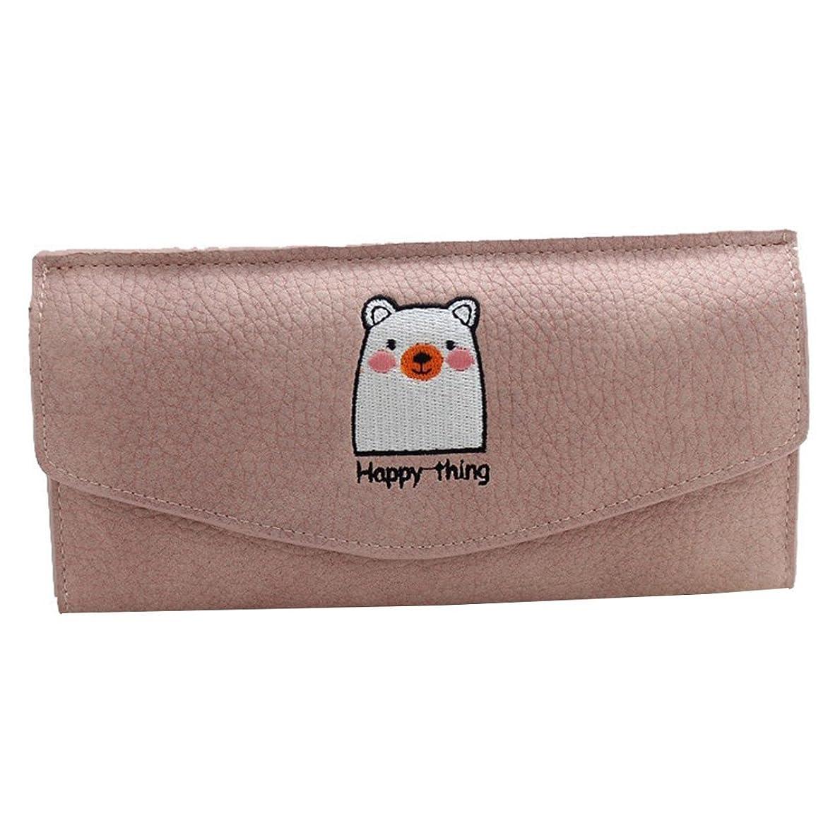 快い惑星のために「テンカ」レディース 長財布 三つ折り かわいい 刺繍動物レトロライチ 小銭入れ 人気 おしゃれ 紙幣 カード 軽量 仕切り 上品
