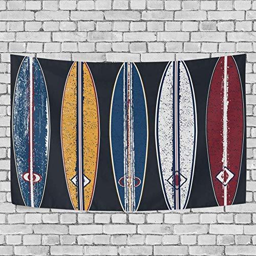 JXZIARON Tapiz Art Paño para Colgar en la Pared Impresión HD Cocina Dormitorio Sala de Estar Decoración,Fondo Exclusivo de Tablas de Surf de Contorno Colorido para 60 x 40 Pulgadas