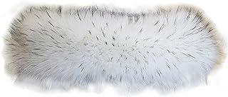 ECYC® Lungo Collo In Pelliccia Sintetica Fake Raccoon Fur Trim Sciarpa Avvolgente Per Giacca Invernale Cappotto 70-90cm