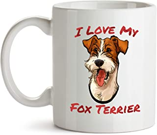 Fox Terrier Coffee Mug, I Love My Fox Terrier, Perfect Gift for Dog Lovers and Pet Owners