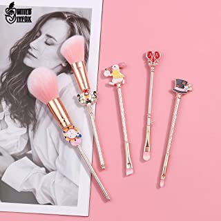 NAMI_STR - Alice in Wonderland Makeup Brushes Set Pro Cosmetics Pink Soft Synthetic Kit Hair With Eyeshadow Eyebrow Blush Contour Brushes