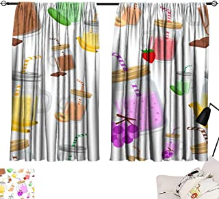 Decor Curtains By Seamless pattern of take away smoothie with ingredients banana cucumber chocolate peach grape vector illustration on white background website page and mobile app design 72