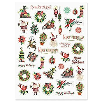 CURRENT Fancy & Festive Christmas Holiday Stickers - Set of 40 Stickers