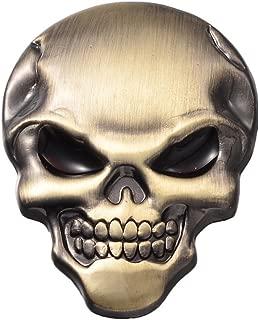 Wanheyao 10 x Brass Car Motorcycle Awesome Skeleton Logo 3D Metal Emblem Badge Decal Skull Demon Bone Sticker