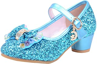 Teen Girls Shoes,Children Girls Latin Ballroom Tango Salsa Dance Shoes Bowknot Bling Bowknot Low Heel Princess Sandals for Party Wedding Evening 3-14 Years Old