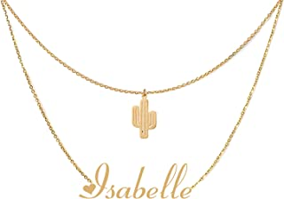 Personalized Custom Name Necklace Layered Choker Necklaces for Women