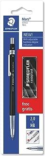Staedtler Mars 780 C BKP6. Portaminas técnico de color negro y punta metálica. Para minas de 2 mm de ancho.