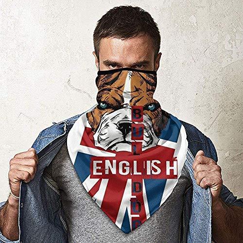 WCUTE Bulldog Anglais Chiot Magique Chapeaux Foulard Bandanas Moto Bandeaux Multifonctionnel Tube Écharpe Cou Guêtre Casque