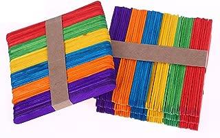 200 piezas de Madera del Arte Palillos Palos de Arte de Colores Lollipop Stick Perfecto para Artículos de Artesanía DIY Bricolaje Artesanía