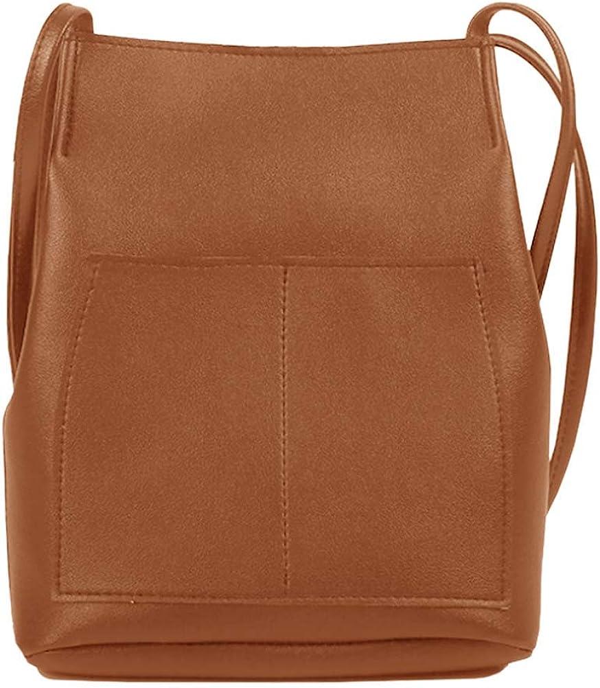 Bucket Bag Suede Leather Womens Handbags Purse Tote Hobo Shoulder Bags