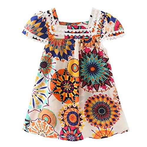 Longra jurk voor meisjes, mouwloos, zonnebloem, bloemenmotief, prinsessen-outfits