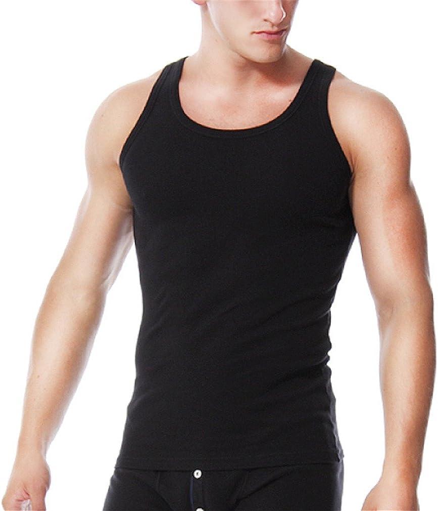 MSMIRROR Mens Singlet Underwear Sleeveless Undershirts O Neck Vest T-Shirt  at Amazon Men's Clothing store