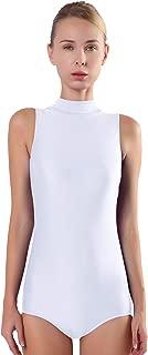 Speerise Women Mock Neck Sleeveless Leotard Lyra Spandex Dance Bodysuit