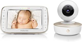 Motorola Video Baby Monitor - Wide Angle HD Camera with Infrared Night Vision and Remote Pan, Tilt, Zoom - 5-Inch LCD Colo...