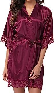 comprar comparacion AIni SeñOras De Las Mujeres Pijamas De Encaje Pijamas De SatéN Ropa Interior Conjunto De Pijamas SeñOras De Gran TamañO Co...
